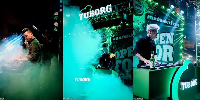 Chuỗi đại tiệc âm nhạc Tuborg lần đầu xuất hiện tại phố cổ Hà Nội