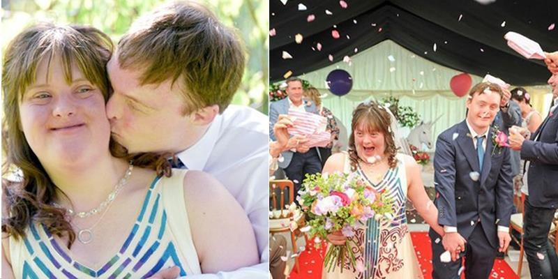 Ảnh cưới của cặp đôi mắc hội chứng Down chứng minh sức mạnh tình yêu