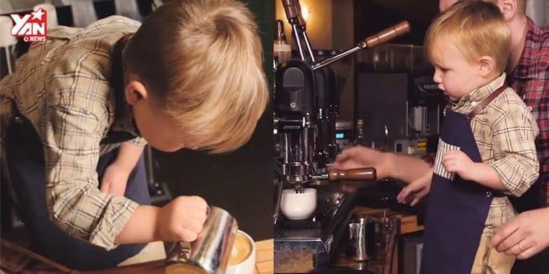 Cậu bé với niềm đam mê kì lạ với cà phê