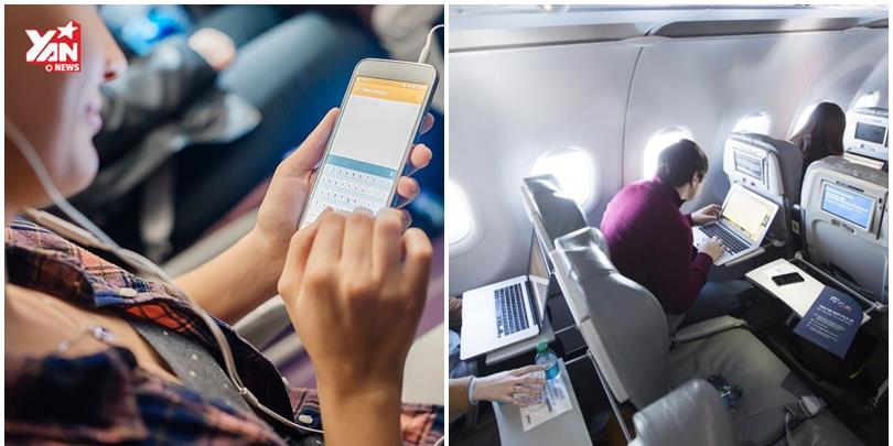 Đã có thể dùng Wifi miễn phí thoải mái trên máy bay