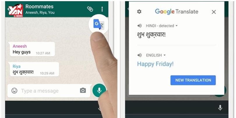 Đã có thể dịch trực tiếp ngay trong ứng dụng Android