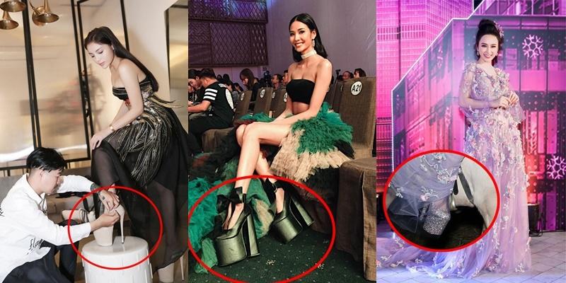 Những đôi giày 'nhìn không đi nổi' của mỹ nhân Việt