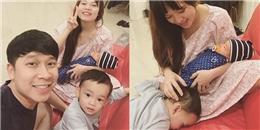 Lê Hoàng (The Men) khoe ảnh gia đình hạnh phúc bên vợ đẹp, con xinh