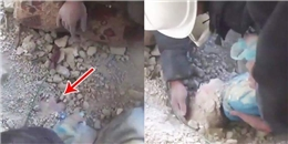 Phép màu không thể tin nổi đến với bé gái bị chôn vùi trong đất