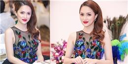 yan.vn - tin sao, ngôi sao - Diện váy xuyên thấu, Hương Giang tự tin thả rông vòng 1 đầy gợi cảm