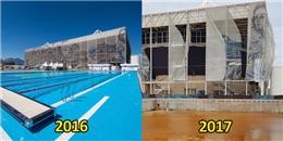 Nhà thi đấu dưới nước Olympic điêu tàn đổ nát chỉ sau có vài tháng