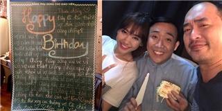 Trấn Thành vừa khóc vừa cười với quà sinh nhật bá đạo từ Hari Won