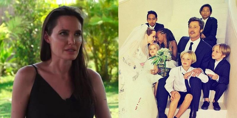 Angelina Jolie rơi nước mắt khi nói về cuộc ly hôn và 6 đứa con