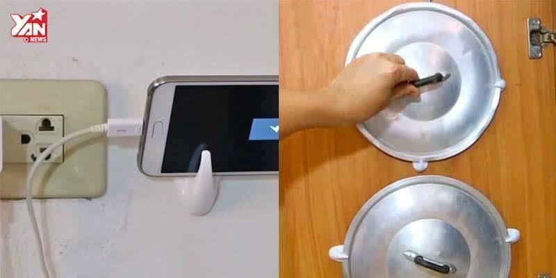 Mẹo với móc nhựa giúp bạn xử lí mọi việc trong nhà