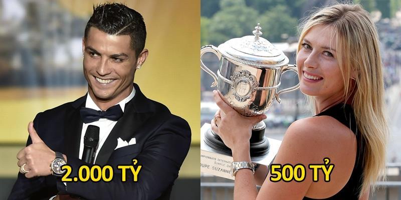 Ronaldo là VĐV thể thao kiếm tiền giỏi nhất thế giới năm 2016