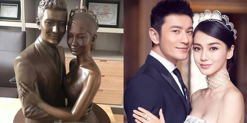 yan.vn - tin sao, ngôi sao - Chuẩn soái ca, Huỳnh Hiểu Minh đúc tượng 2 vợ chồng bày phòng làm việc