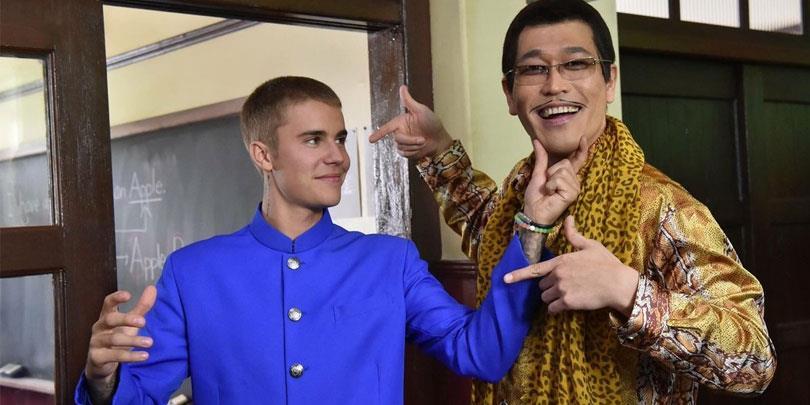 Justin Bieber cuối cùng cũng được gặp thần tượng Pikotaro của hit PPAP