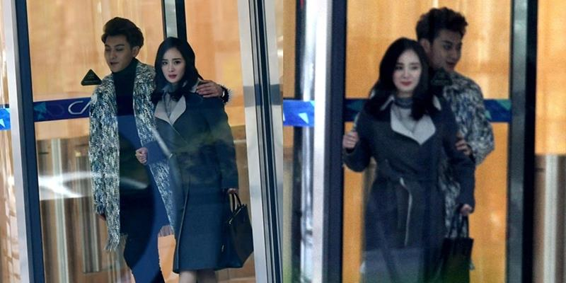 Hoàng Tử Thao khoác vai Dương Mịch cười tình tứ trên phim trường