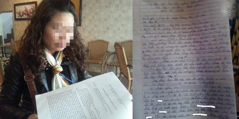 Đau xót khi biết con gái 8 tuổi bị xâm hại, người mẹ viết đơn tố giác