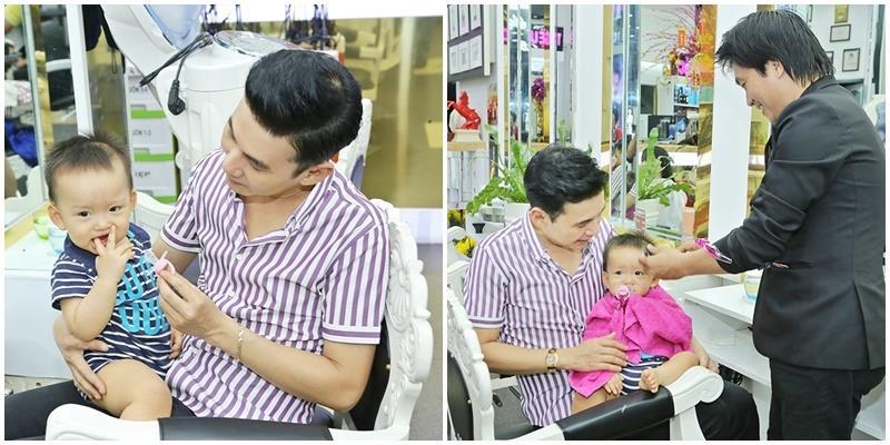yan.vn - tin sao, ngôi sao - Ba nuôi đưa con trai Phi Thanh Vân đi cắt tóc