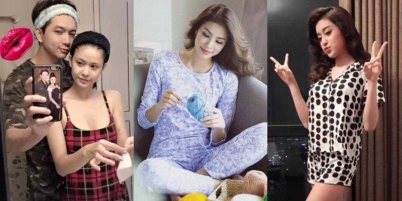 Mỹ nhân Việt đẹp bội lần khi mặc đồ ngủ ở nhà