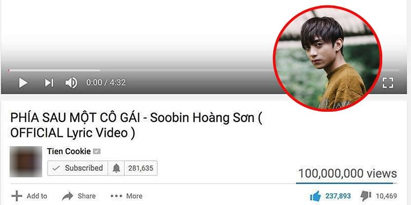 yan.vn - tin sao, ngôi sao - Soobin Hoàng Sơn là ca sĩ đầu tiên có MV lyrics đạt 100 triệu view
