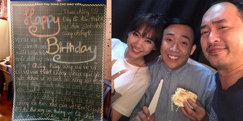 Trấn Thành 'vừa khóc vừa cười' với quà sinh nhật 'bá đạo' từ Hari Won