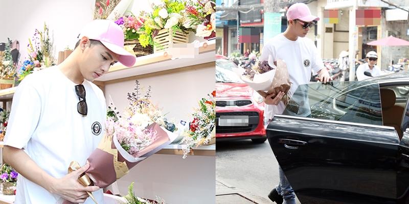 Bắt gặp Noo Phước Thịnh bí mật đi mua hoa tặng người yêu?