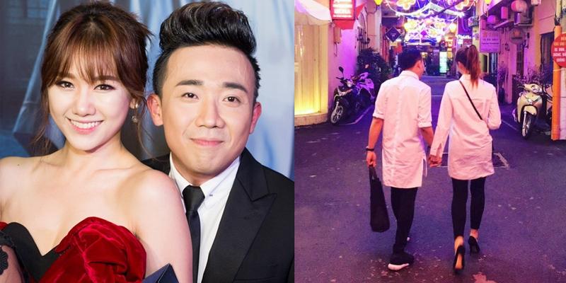 'Ngọt lịm' lời chúc 'Valentine xa' của Trấn Thành dành tặng Hari Won