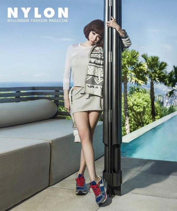 Tiffany (SNSD) lạ lẫm với tóc ngắn trên tạp chí Nylon