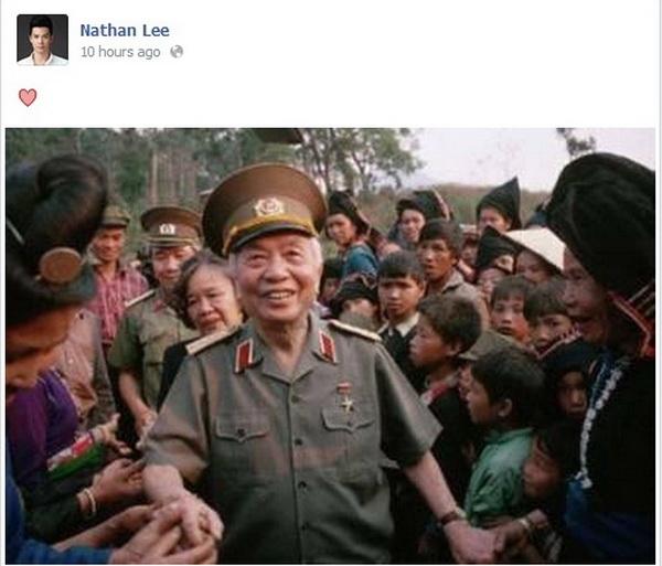 Nathan Lee thể hiện sự thương tiếc, yêu mến vị Đại tướng rất đơn giản, không cần dài dòng câu chữ. - Tin sao Viet - Tin tuc sao Viet - Scandal sao Viet - Tin tuc cua Sao - Tin cua Sao