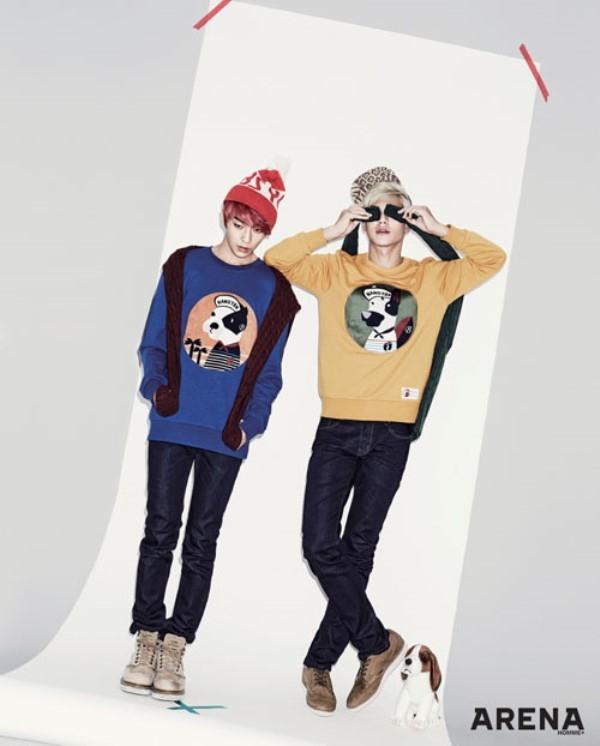 Teen Top cực chất với áo khoác đón đông về trên tạp chí Arena