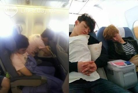 ... thậm chí còn theo chân các chàng trai lên chuyến bay