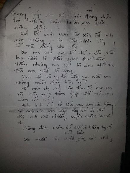 Bức thư tuyệt mệnh của cô giáo lấy cái chết mong minh oan việc đốt tay trò