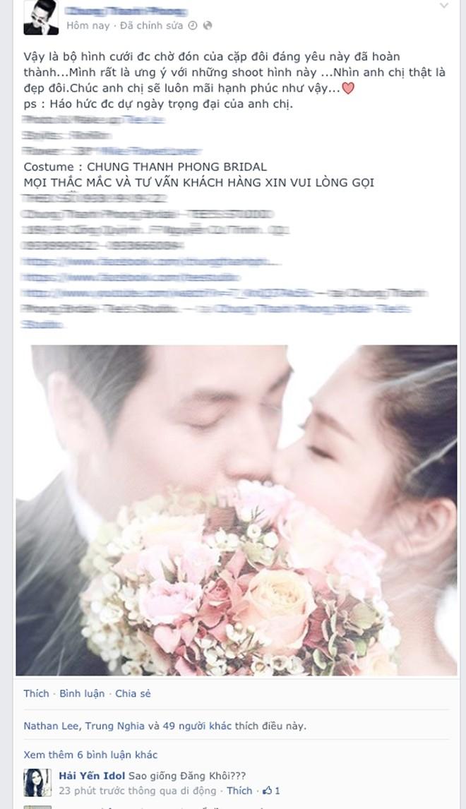 NTK Chung Thanh Phong là người đầu tiên khoe ảnh cưới của Đăng Khôi - Tin sao Viet - Tin tuc sao Viet - Scandal sao Viet - Tin tuc cua Sao - Tin cua Sao