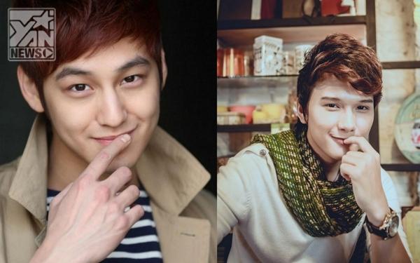 Khắc Minh(trái) sở hữu gương mặt và nụ cười khá giống vớiKim Bum(phải)