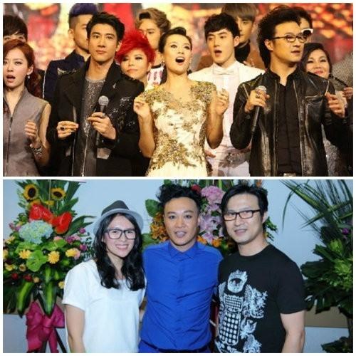 Cả hai cùng xuất hiện tại sự kiện ở Đài Loan (ảnh trên) và đêm nhạc của nam ca sĩ Trần Dịch Tấn.