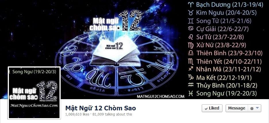 Top 10 fanpage đạt trên 1 triệu fan tại Việt Nam