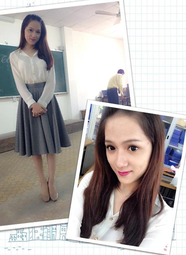 Hương Giang Idol gây bất ngờ với hình ảnh dịu dàng như nữ sinh