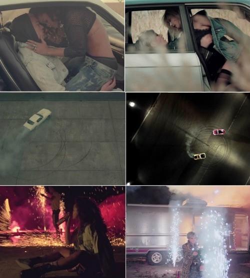 Sự giống nhau trong các phân cảnh của 2 MV Now và We Found Love.
