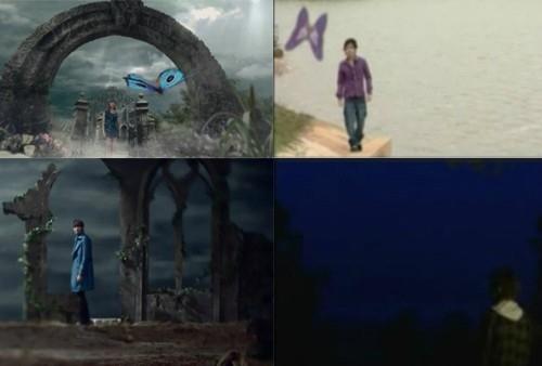 Hình ảnh cánh bướm xuất hiện, đưa nhân vật trong MV Park Bom (trái) và của Nguyên Vũ đến với người mình yêu.