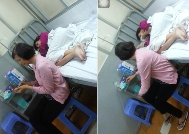 Hình ảnh mới nhất của Hoàng Yến trong bệnh viện đang được mẹ chăm sóc. - Tin sao Viet - Tin tuc sao Viet - Scandal sao Viet - Tin tuc cua Sao - Tin cua Sao