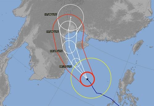 Tâm siêu bão Haiyan bất ngờ được dự đoán đi ngược lên phía Bắc