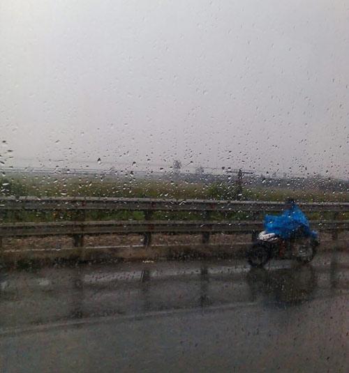 Tại tỉnh Nam Định đã có mưa
