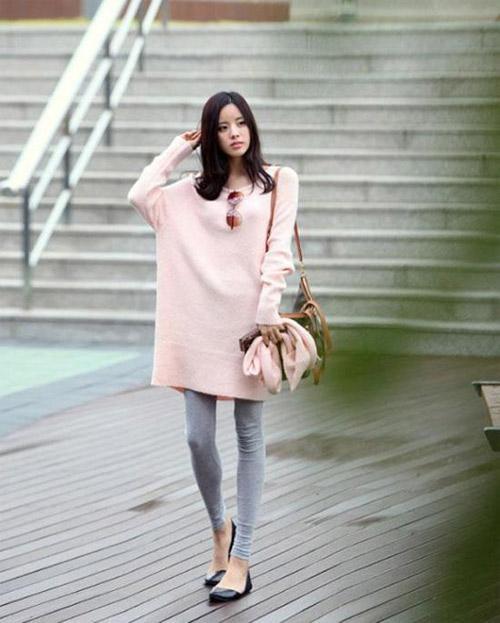 Cách mix đồ đẹp với legging trong tiết trời thu đông