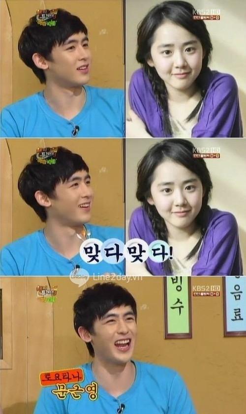 """Trong Happy Together (KBS 2TV), Nichkhun cho biết: """"Mọi người hay bảo tôi giống Moon Geun Young""""."""