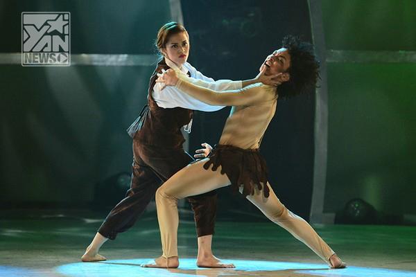 Lan Anh - Minh Trườngkết hợp với nhau trong một điệu nhảy hoàn toàn mới mang tên Merengue do Aki biên đạo. Cặp đôi này đã mang tới cho chương trình một không khí hết sức thoải mái với những kỹ thuật trèo lên vai đứng trụ rồi đổ người xuống, cùng những cú lộn vòng liên tiếp xem rất hứng thú.