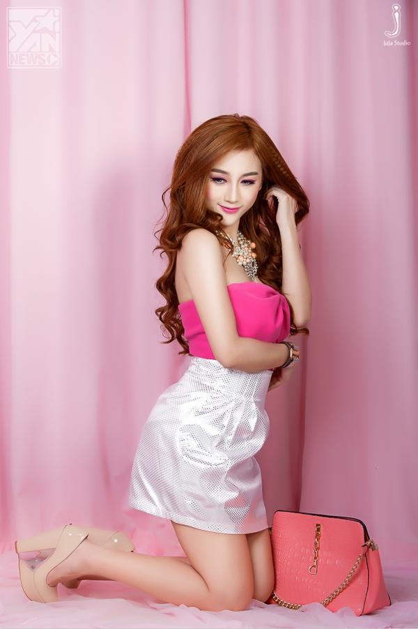"""""""Búp bê Barbie"""" Yuu Quỳnh Nhi đáng yêu trong sắc hồng ngọt ngào"""