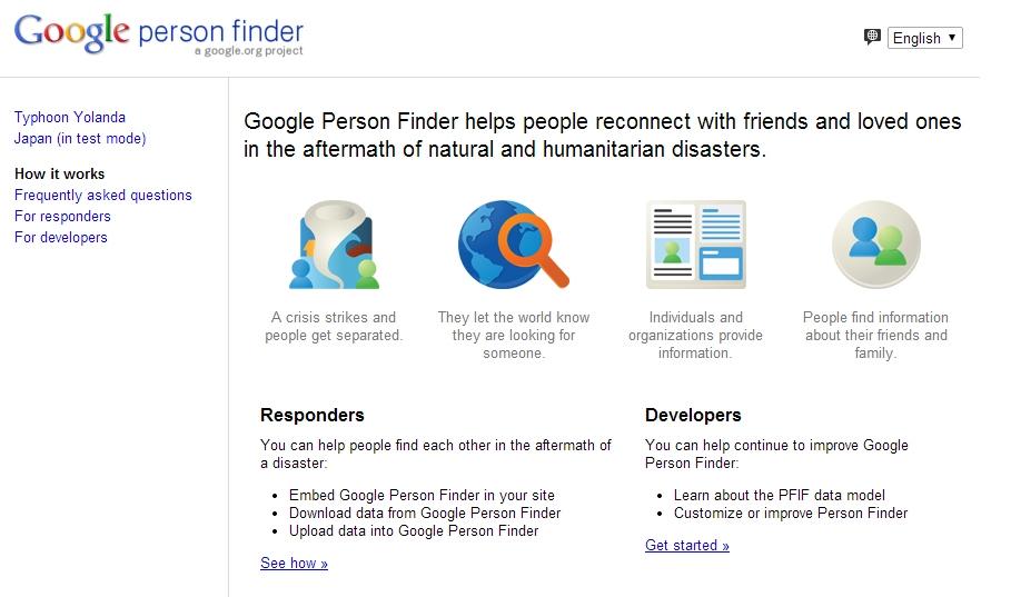 Google lập trang web riêng tìm người sau siêu bão Haiyan
