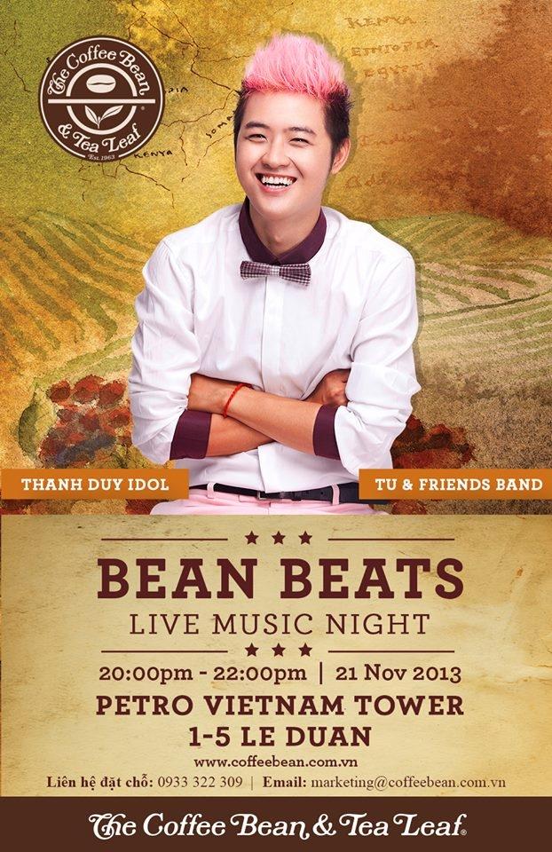 Hòa mình vào không gian âm nhạc với Bean Beats Live Music Night