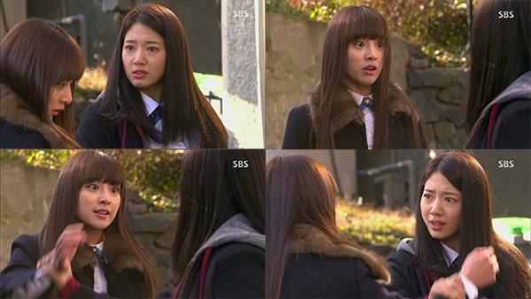 Cha Eun Sang: Thế cậu muốn tôi làm gì? Tôi phải làm gì để cậu thấy dễ chịu hơn hả? Yoo Rachel: Để xem, lau cái này đi. Chắc chắn cậu học được nhiều từ mẹ cậu mà! Cha Eun Sang: Cậu muốn làm gì tôi cũng được. Nhưng ai cho phép cậu sỉ nhục mẹ tôi hả? Tôi không biết mẹ cậu đã dạy dỗ cậu như thế nào nữa...