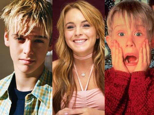 Aaron, Lindsay và Macaulay lúc nhỏ