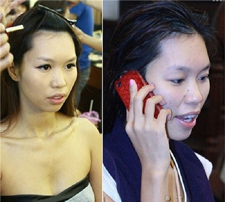 Khuôn mặt chưa được make up của Hà Anh thực sự kém đẹp. - Tin sao Viet - Tin tuc sao Viet - Scandal sao Viet - Tin tuc cua Sao - Tin cua Sao