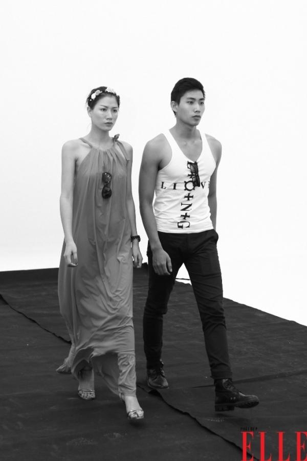 Dàn người mẫu ELLE Fashion Show cật lực tập luyện