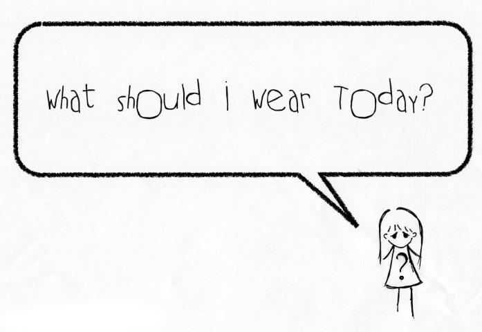 Việc chọn lựa, sắp xếp và thay quần áo mỗi buổi sáng có thể khiến chúng ta mất hàng tiếng đồng hồ.
